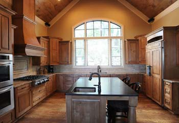 image of all-wood surfaced Kitchen